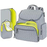 Pañalera Moderna Mochila Backpack Ligera de Calidad Gran Capacidad con Cambiador Viajes y Ciudad.