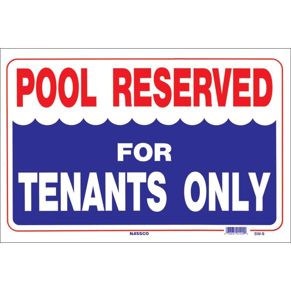 Amazon.com: Señal de piscina, piscina reservados para casero ...
