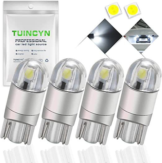 TUINCYN T10 194 168 W5W wei/ße Gl/ühbirnen Super Bright 12V-16V 4er Pack