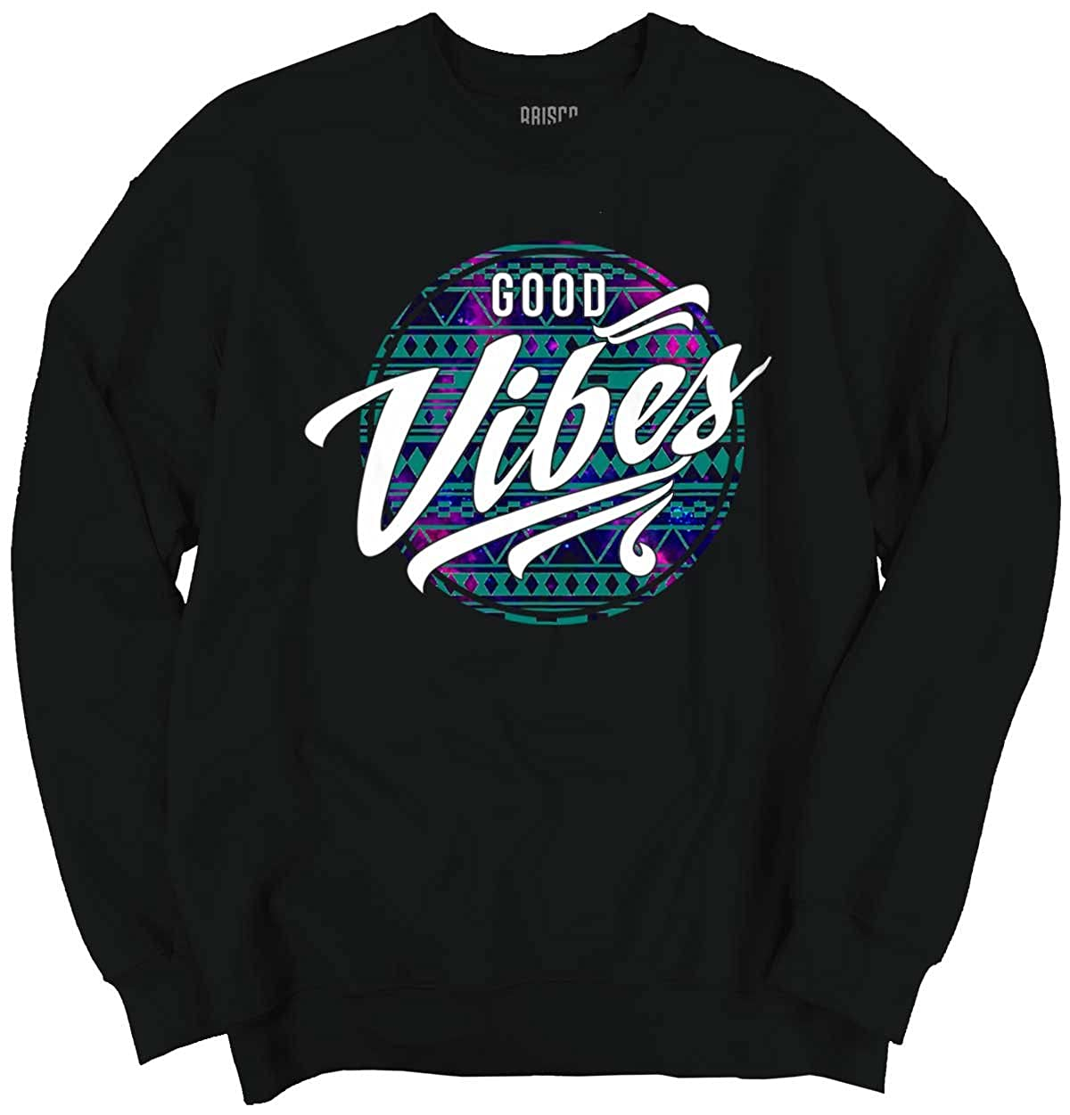 Brisco Brands Good Vibes Chilling Fun Awesome Gifts Funny Hipster Youth Sweatshirt 19M228-18000B