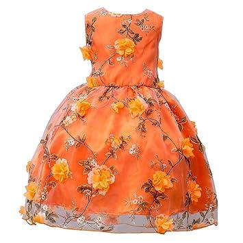 Prinzessin Kleid Mädchen Btruely Brautjungfern Kleid Blumen ...