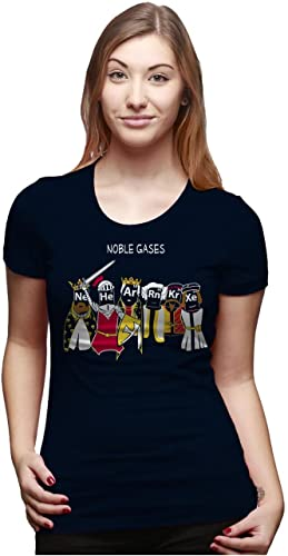 Crazy Dog T-Shirts Womens Noble Gases Science T shirt Funny Science Shirts Cool Humorous Nerdy Tees ...