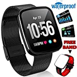 ONMet SmartWatch Fitness Tracker IP67 Waterproof with Heart Rate Blood Pressure Monitor Men Women Swim Run Outdoor Sport Watch GPS Activity Tracker Pedometer Calorie Stopwatch IOS Android