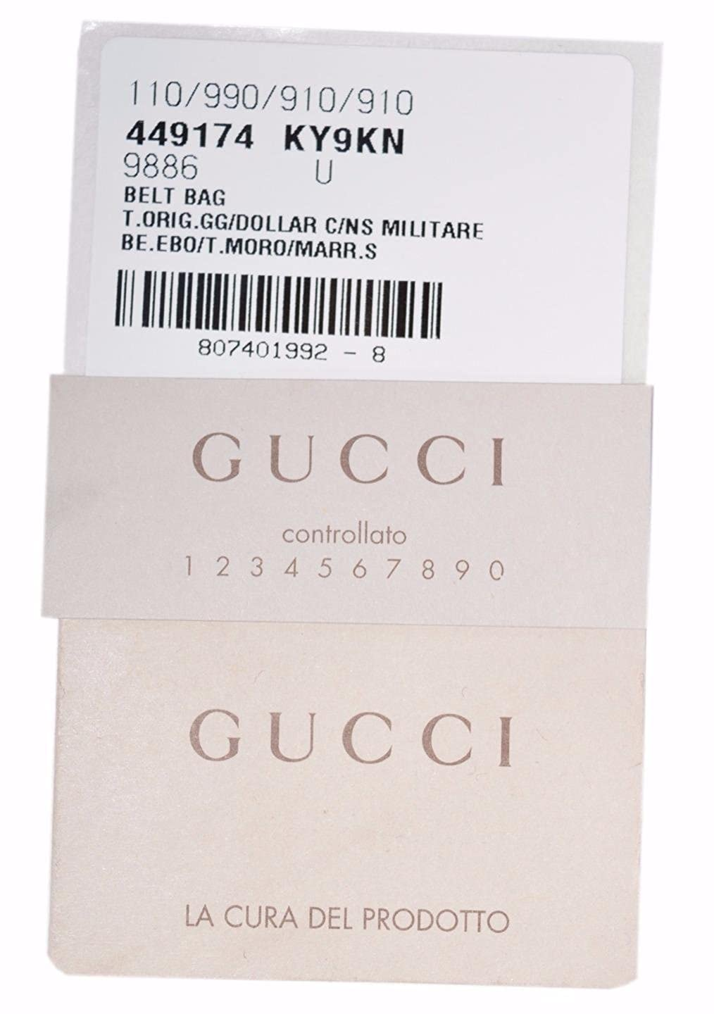 56f37132643 Gucci Men s GG Guccissima Small Canvas GG Waist Belt Fanny Pack Bag   Amazon.in  Shoes   Handbags