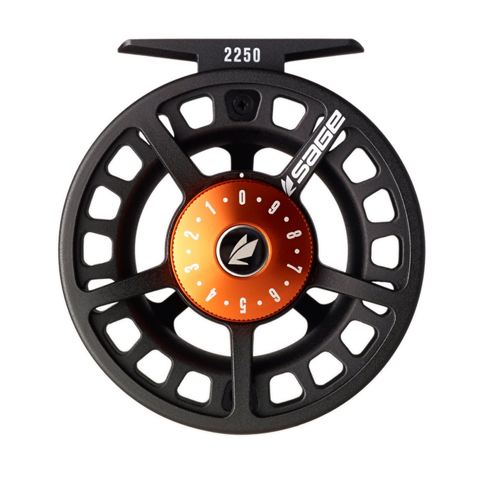 Sage 2250 Fly Reel-Black/Blaze (5-6 wt) by Sage