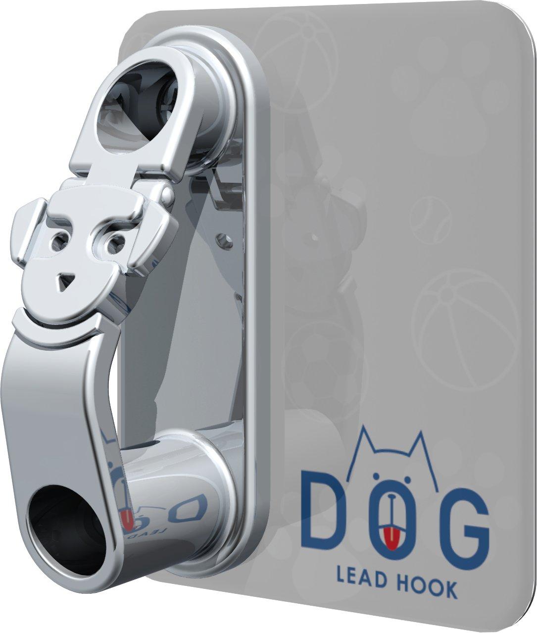 サンポール リードフック(犬用係留フック) ステンレス製 LH-412-WL ストッパーフック付 ミニサインプレート(ホワイト/ドッグロゴ)付 壁付式 B077M96K3G 12579 LH-412-WL LH412WL