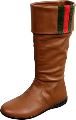 Gucci Kids Brown Leather Boots