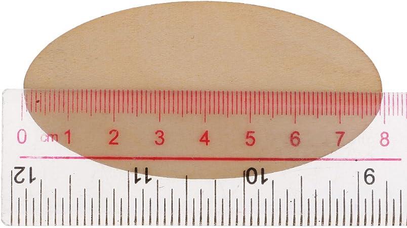 80 x 40 mm 20 St/ück Nat/ürlich 1,5 Mm Dicke Oval Unfertige Holzst/ücke Label Anh/änger Deko ohne Loch F/ür Kunsthandwerk DIY