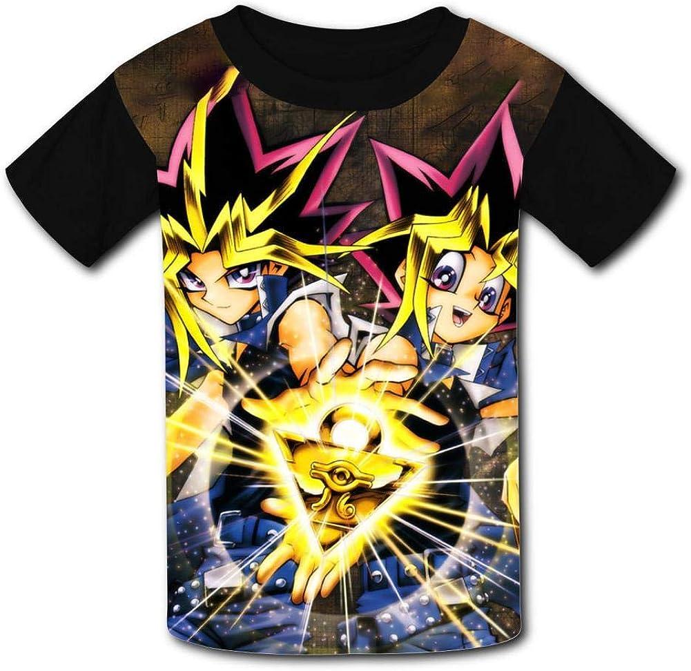Kid//Youth Yu-Gi-Oh T-Shirts 3D Short Sleeve Tees for Girls Boys