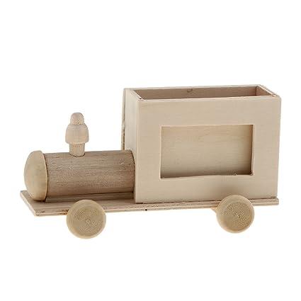 Amazon.com : Jili Online Wooden Train/Car/House/Photo Frame Shapes ...