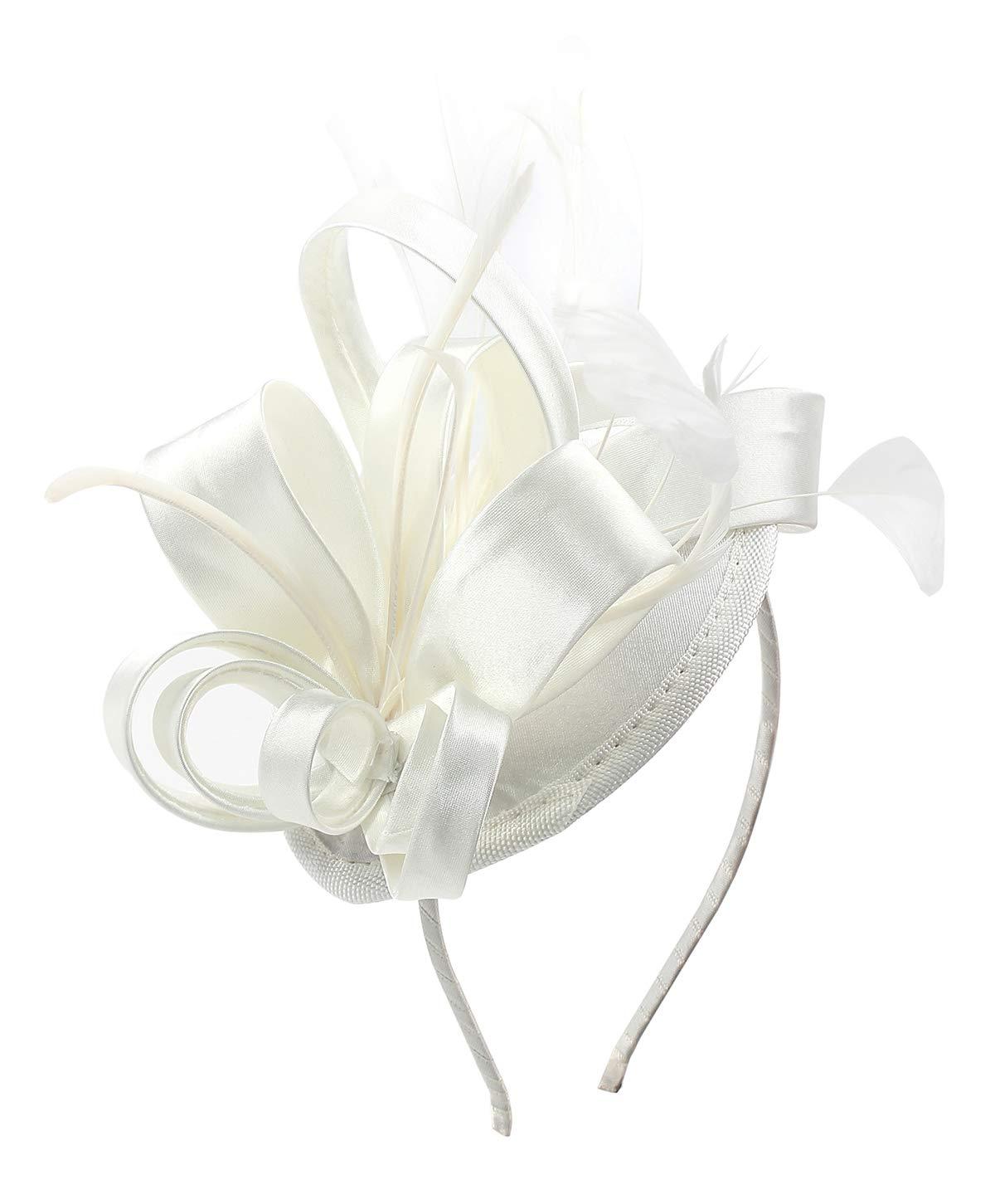 Felizhouse 1920s Fascinators For Women Feathers Flapper Headband Wedding Royal Ascot Racing Tea Party Head Piece