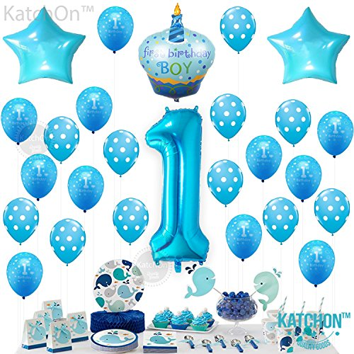 1st Birthday Boy Balloons Set - BONUS - Printable Party Planner and Checklists - Birthday Balloon Set