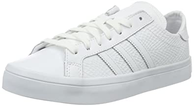 adidas Courtvantage W, Sneakers Basses Femme, Blanc (FTWR White/FTWR White/