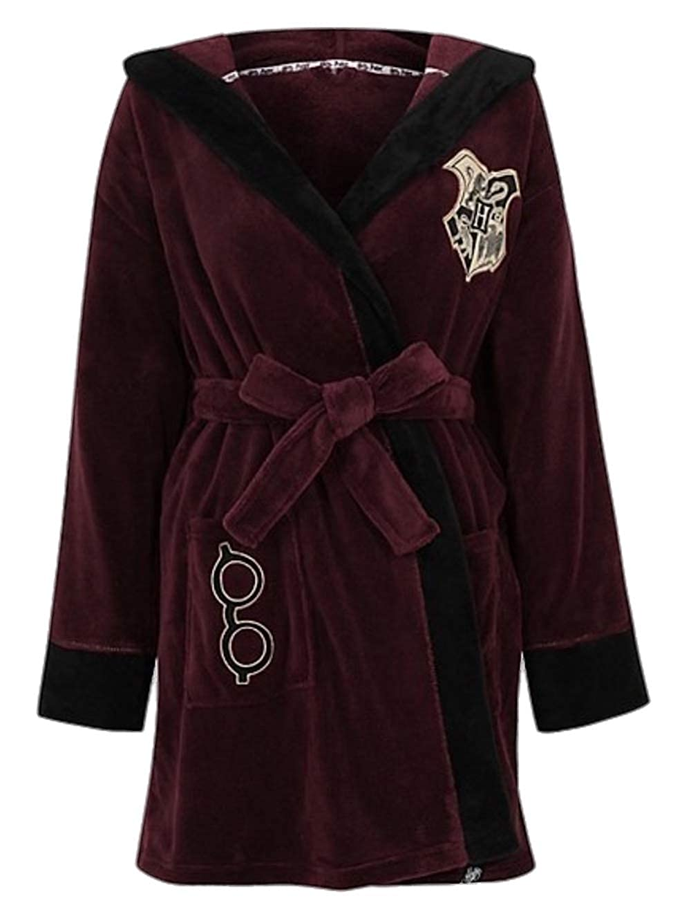 Ladies Harry Potter Robe Dressing Gown Embroidered Detailing
