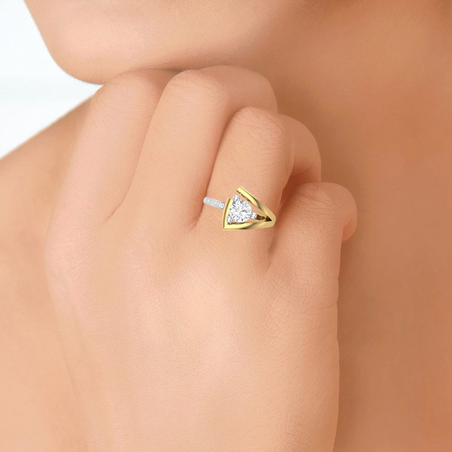 Buy Clara Silvo 18K Gold Plated Sherry Sterling Silver Ring With ...