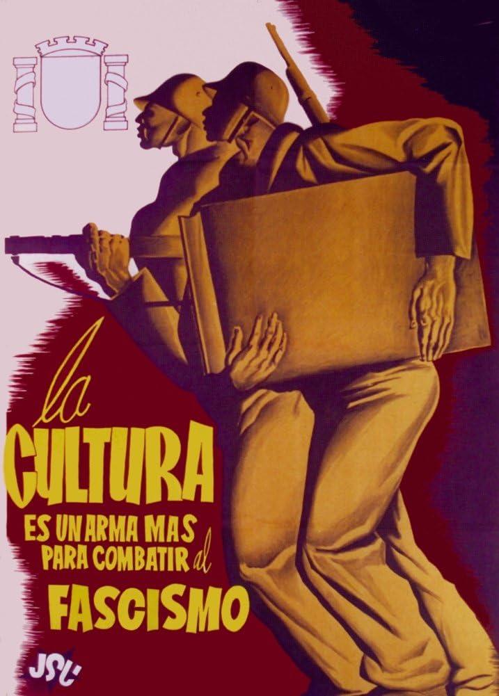 Guerra Civil Española Propaganda 1936-1939, La Cultura es un Arma Mas Para Combatir al Fascismo, Reproducción sobre Calidad 200gsm de espesor en Cartel A3 Tarjeta Brillante: Amazon.es: Hogar