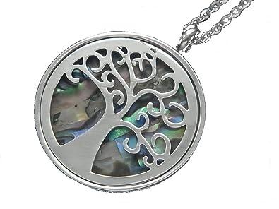 Echt Edelstahl Kette Halskette mit Anhänger Lebensbaum