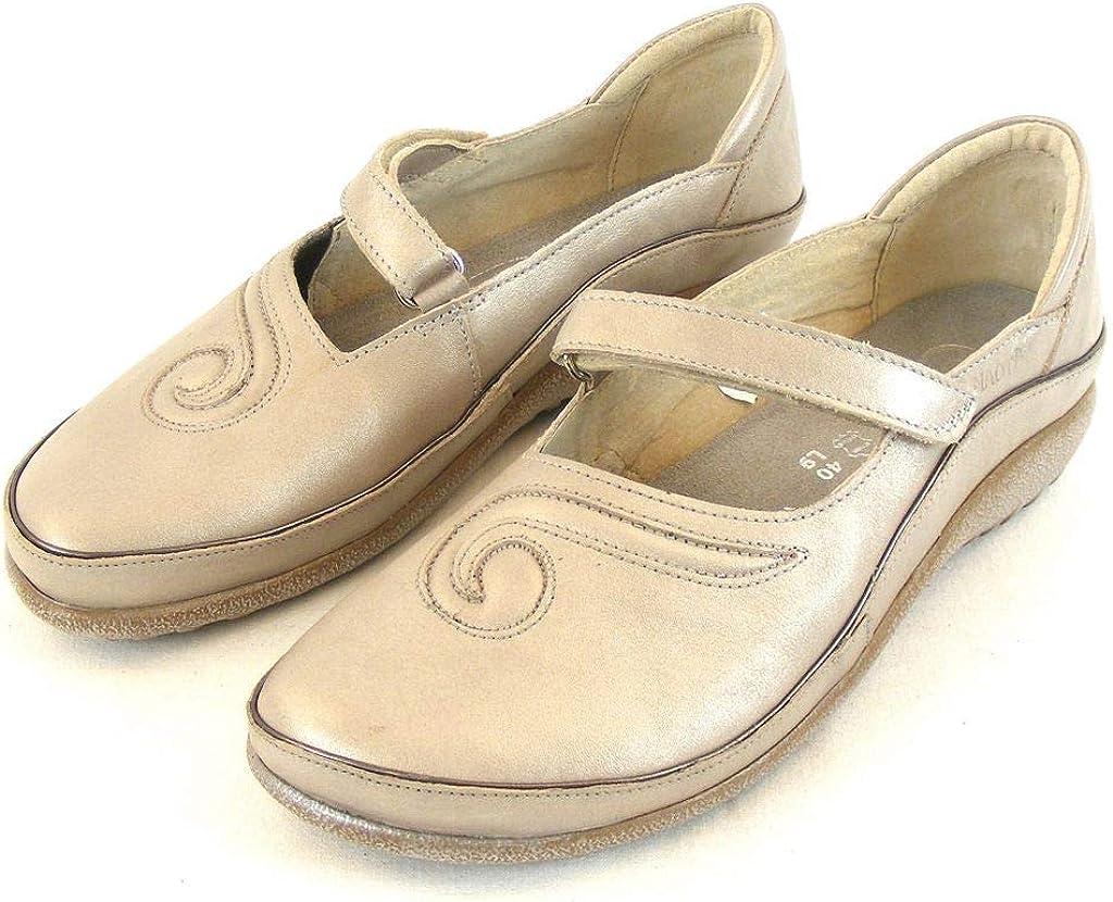 Naot Matai beige Silber metallic Damen Schuhe Halbschuhe Leder 13897 Fu/ßbett