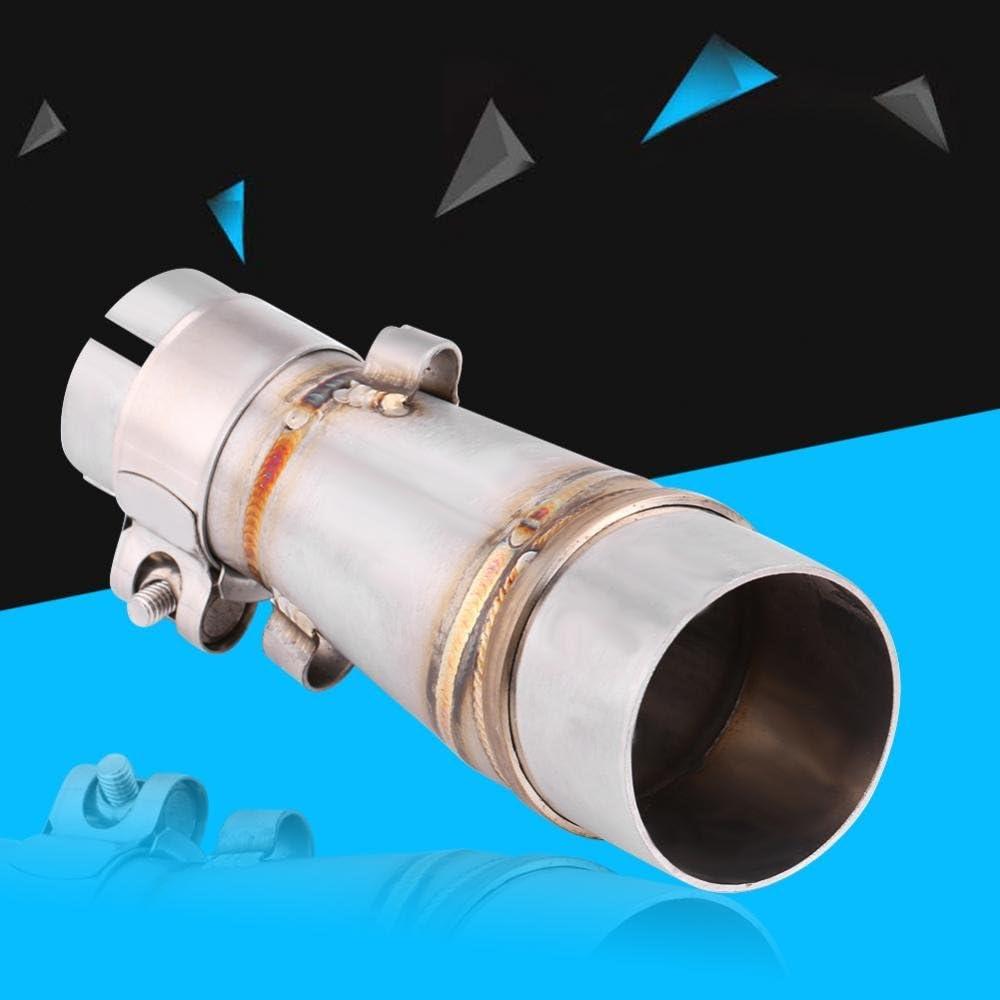 tubo conector del silenciador de escape con abrazaderas y adaptadores Tubo medio de escape de la motocicleta