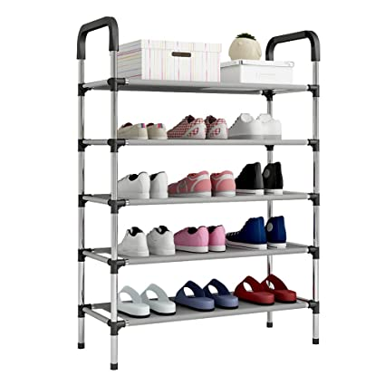 Superieur UDEAR Shoe Rack Storage Organizer 5 Tier Portable Adjustable Shoes Shelf  Tower (Black)