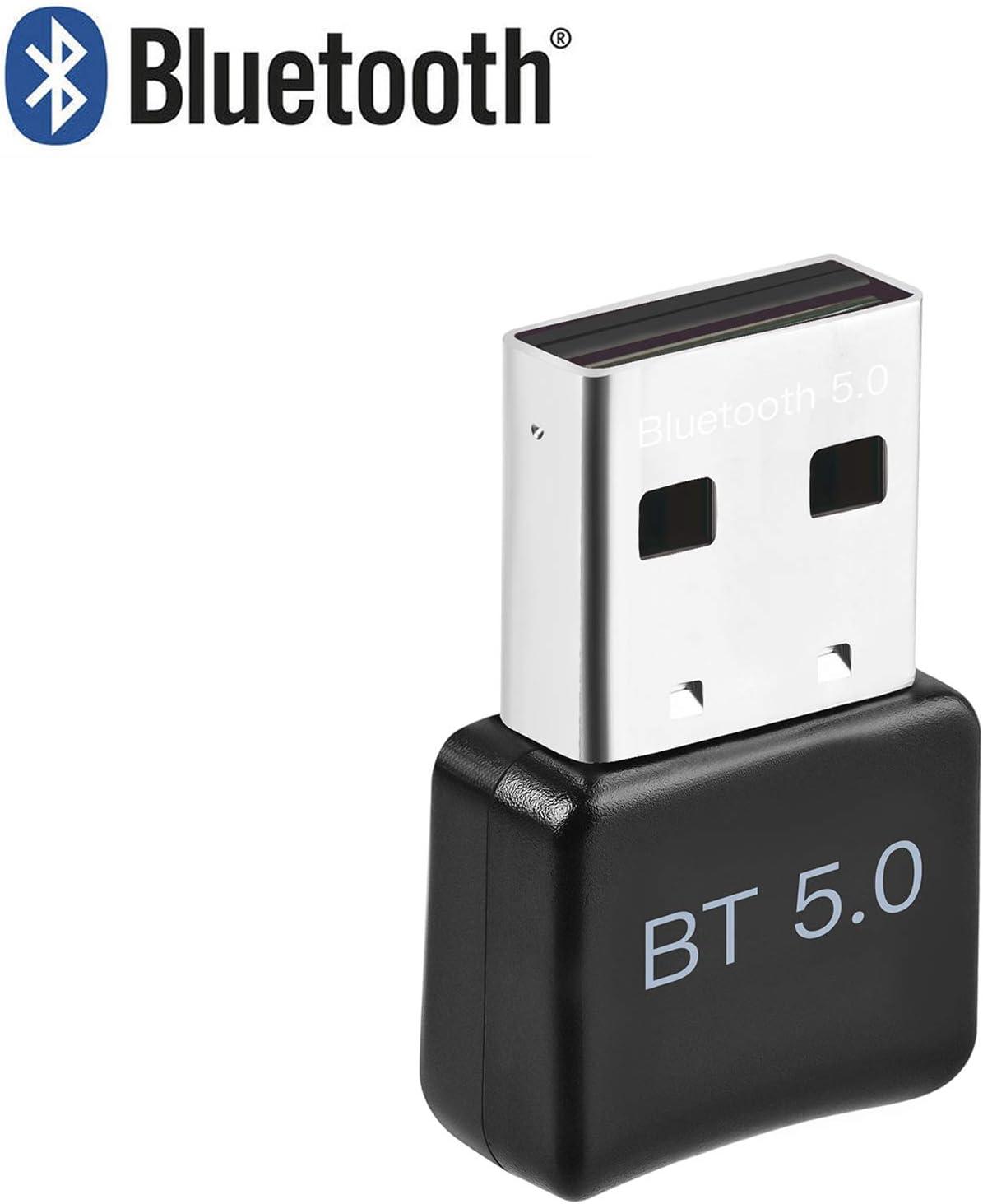 ACTGON Adaptador de Bluetooth 5.0 USB Bluetooth Transmisor y Receptor para Computadora, Escritorio, Teclado, Mouse Inalámbrico, Bluetooth USB Dongle Compatible con Windows 10, 8,7, XP, Vist