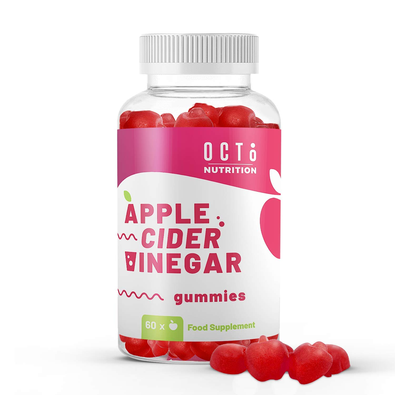 Premium Apple Cider Vinegar Gummies with Mother 1000MG by Octo Nutrition - Unfiltered ACV - Contains Vitamin E, B6, B12 & Folic Acid - Gummy Alternative to Apple Cider Vinegar Pills, Tablets