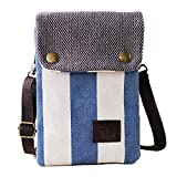 Girls Women Mini Crossbody Bag Cellphone Purse Wallet Canvas Bags with Adjustable Shoulder Strap