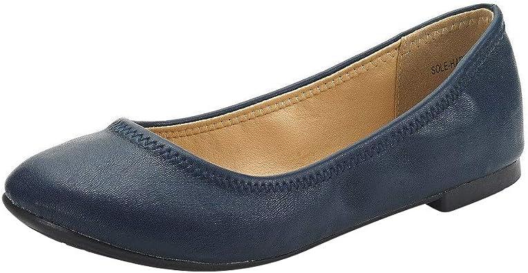 DREAM PAIRS Womens Ballet Flats Slip on Ballerina Pumps Shoes