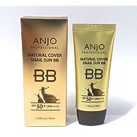[ANJO] Natural Cover Snail Sun BB Cream SPF 50+PA+++ 50ml X 1EA / Makeup Base/Snail Mucus/Korean Cosmetics