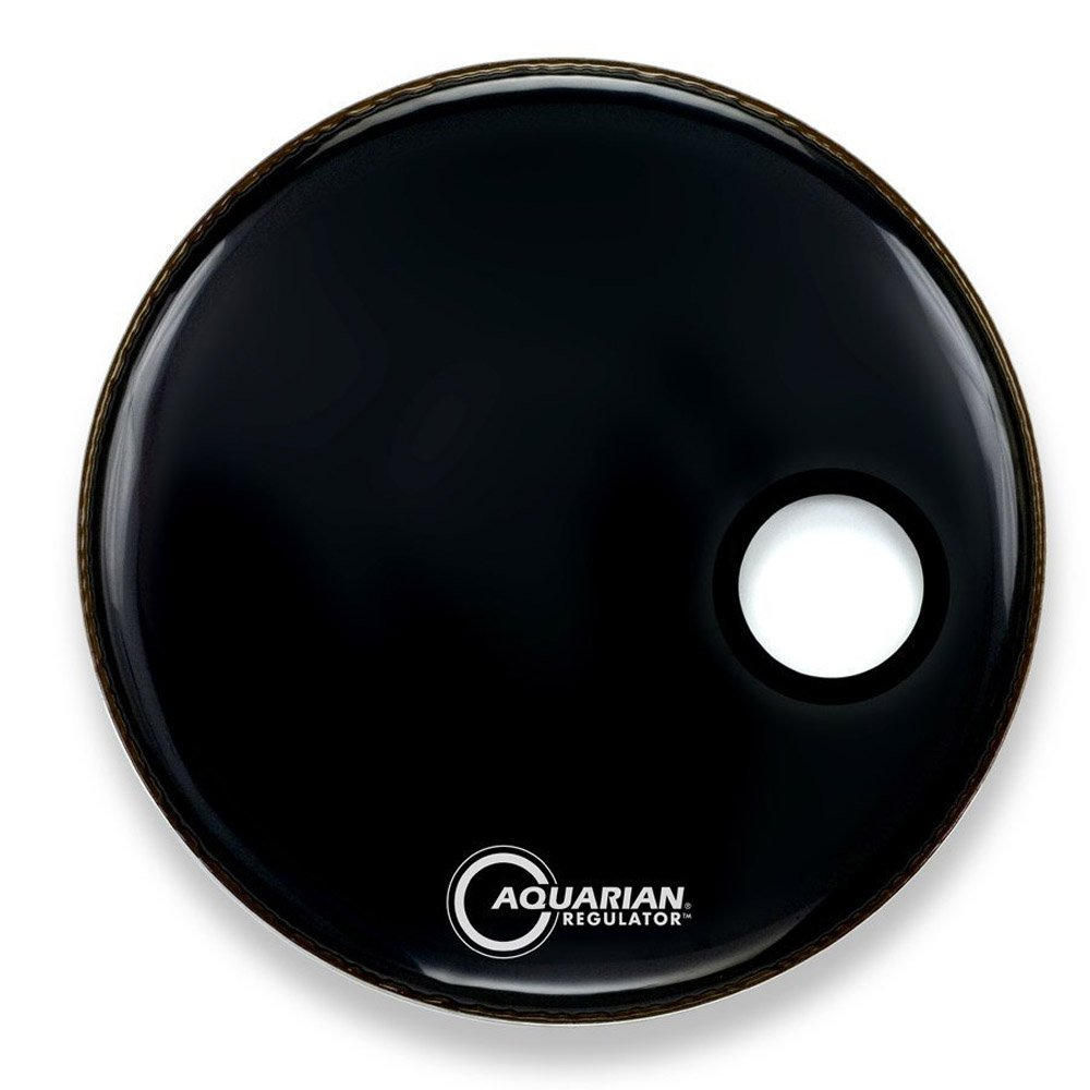 Aquarian RSM22BK Drumheads Regulator Black 22-Inch Bass Drum Head, Gloss Black Aquarian Drumheads
