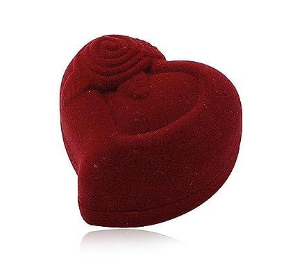 Evil Wear Caja de regalo en forma de corazón, caja para anillo, joyas,