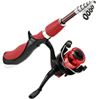 sundan 【US Stock】 Portable Telescopic Fishing Rod and Reel Set Casting Fishing Rods Carbon Ultra Light Rod with Small…