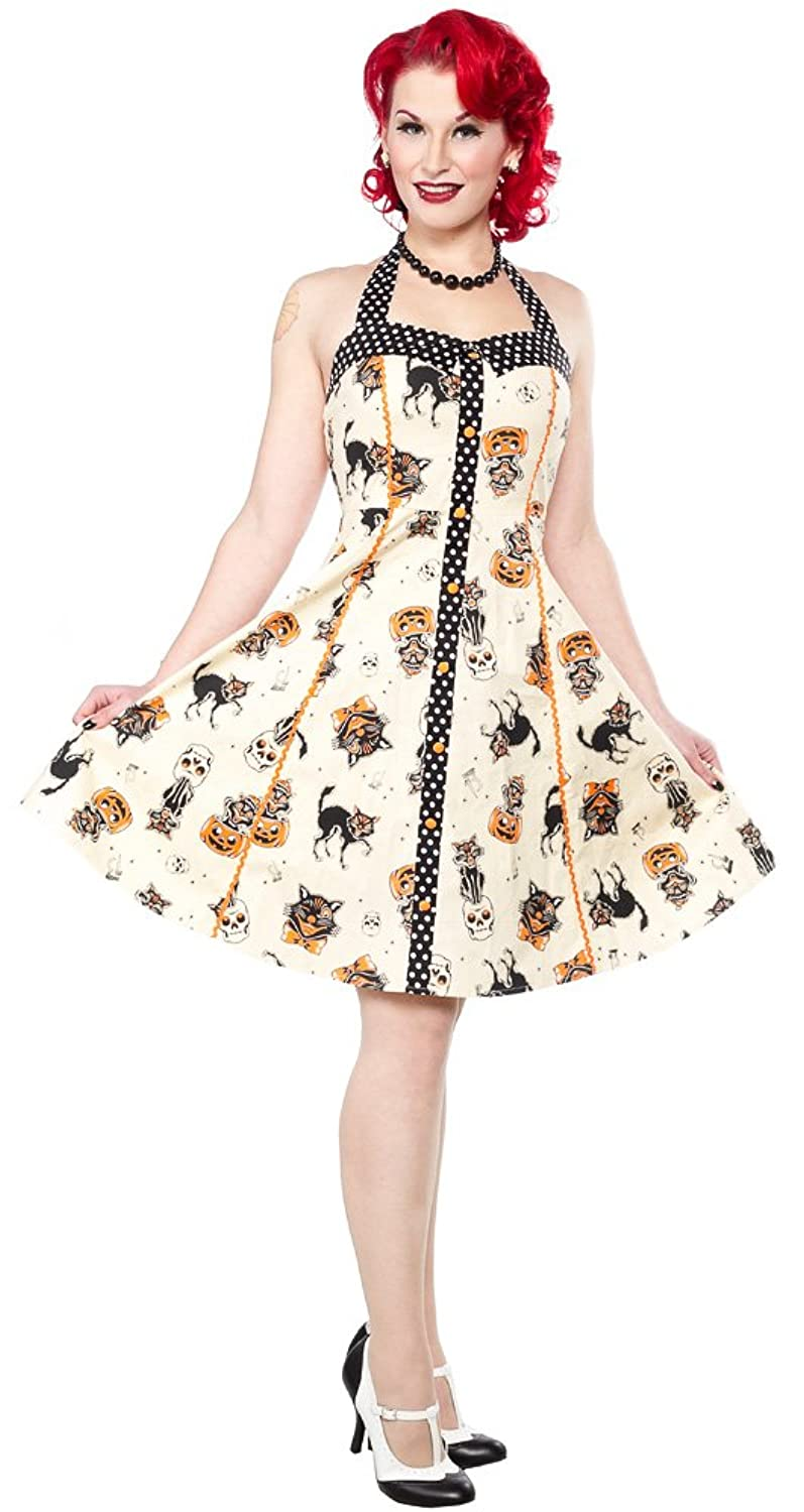Sourpuss Black Cats Peggy Dress $53.99 AT vintagedancer.com