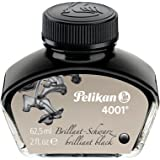 Pelikan 4001 Bottled Ink for Fountain Pens, Brilliant Black, 62.5ml, 1 Each (329144)