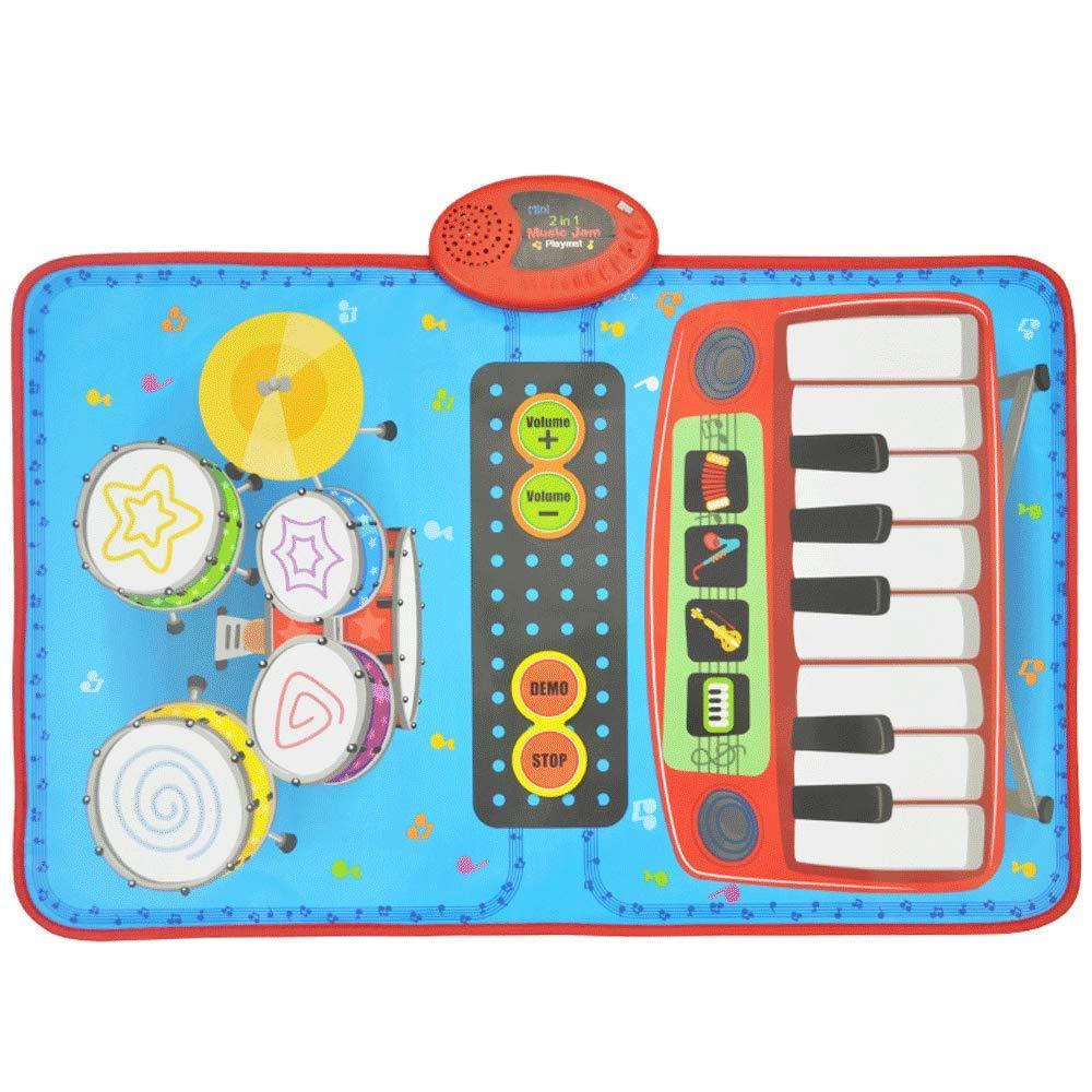 子供のおもちゃベビージャズドラム電子ピアノピアノブランケット多機能早期教育パズル音楽女の子のおもちゃの初心者のおもちゃ (サイズ さいず : A) A  B07KNJJJK6