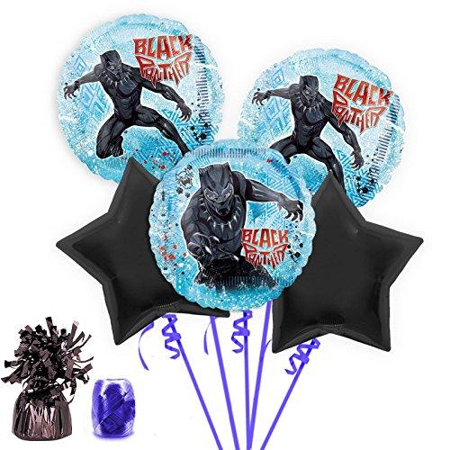 Bouquet Costume (Costume SuperCenter Black Panther Balloon Bouquet Kit)