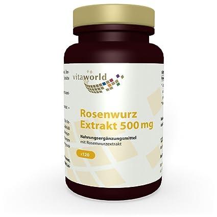 Rhodiola Rosea 500mg 120 Cápsulas Vegetales - Vita World Farmacia Alemania