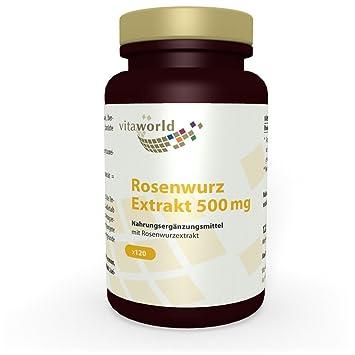 Rhodiola Rosea 500mg 120 Cápsulas Vegetales - Vita World Farmacia Alemania: Amazon.es: Salud y cuidado personal