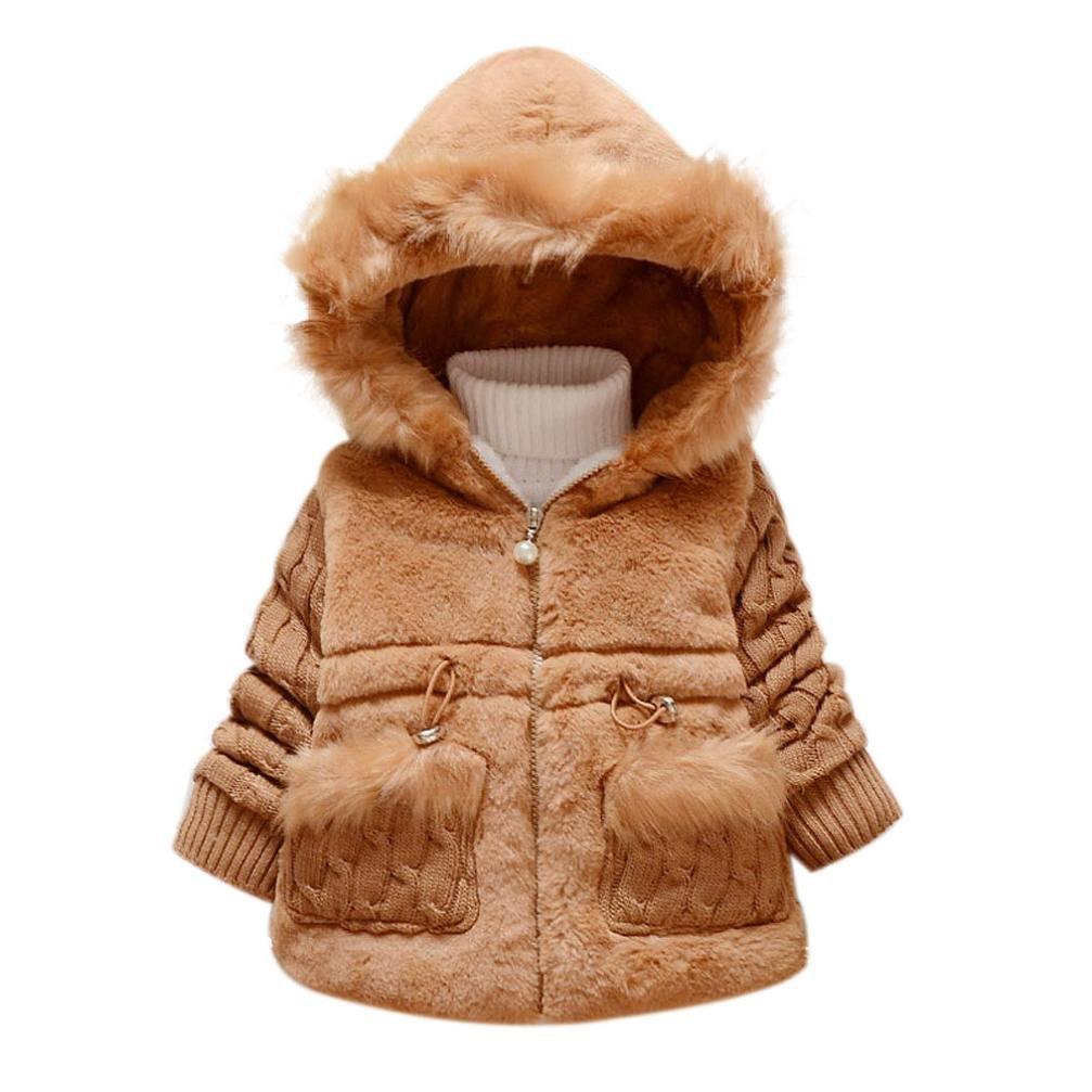 OVERMAL Baby M/ädchen Daunenjacke Baby Kleinkind M/ädchen Winterjacke Kinderjacken Winter Warm Mantel Jacke Dicke Kleidung Winter