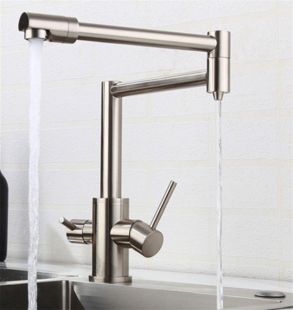 PLYY Copper Kitchen Faucet Faucet Faucet Hot and Cold Folding Faucet Sink Wash Basin Faucet Copper Faucet 52450c