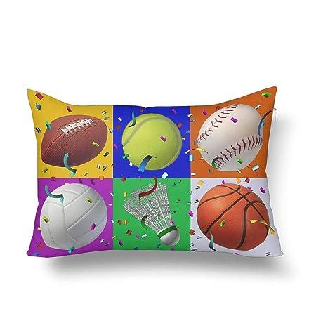 ceecarlee - Funda de Almohada para cojín, diseño de balón de ...