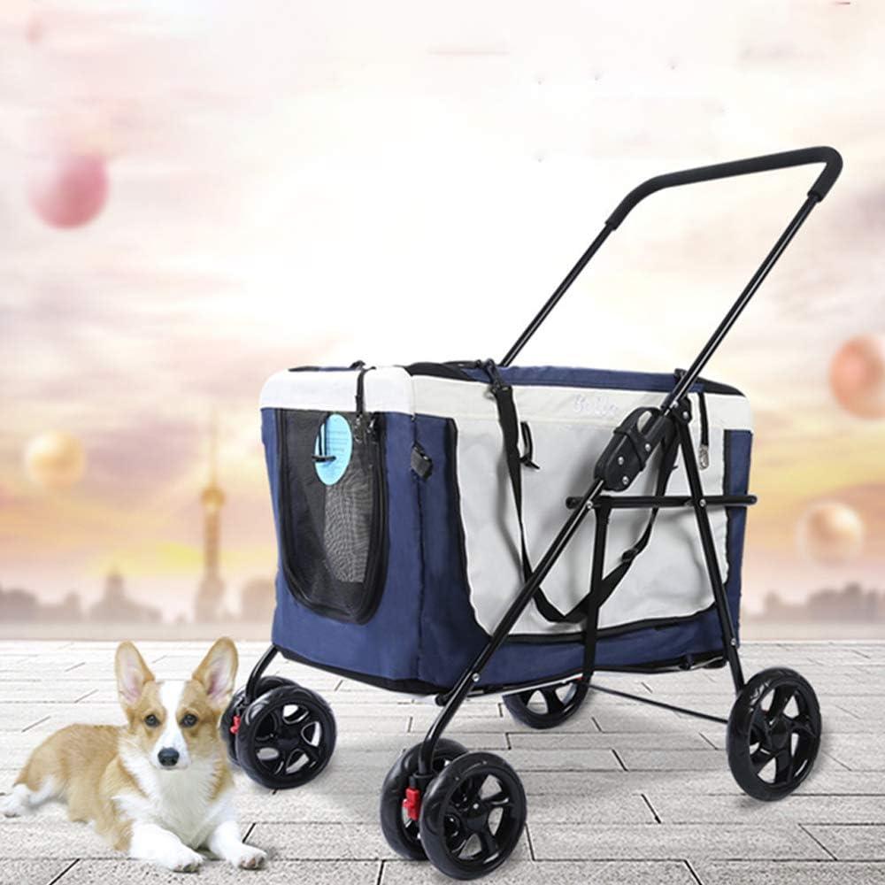 Cochecito para mascotas Trolley para automóvil al aire libre Bolso plegable portátil para el carro Perro separado Carrito para cochecito del gato Carrito de lujo de Roadster Pet Jogger incluido A