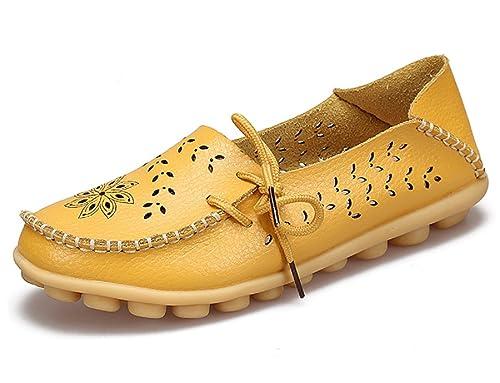 Mocasines de Smart Loafer,Mujer Mocasines de Cuero Moda Loafers Casual Zapatos de Conducción Zapatillas 34-44: Amazon.es: Zapatos y complementos