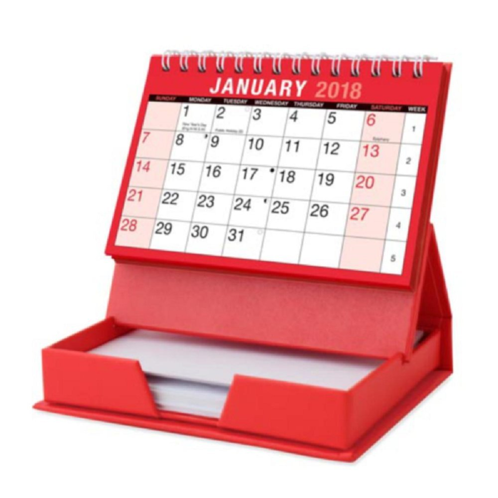 1x 2018 Desktop Month To View Calendar and Memo Note Pad Tallon