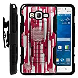 Samsung Galaxy Grand Prime Case, Swivelling Belt Clip, Full Body Hybrid High Impact Armor w/ Kickstand and Customized Designs for Samsung Galaxy Grand Prime SM-G530 by MINITURTLE - Raining Knives