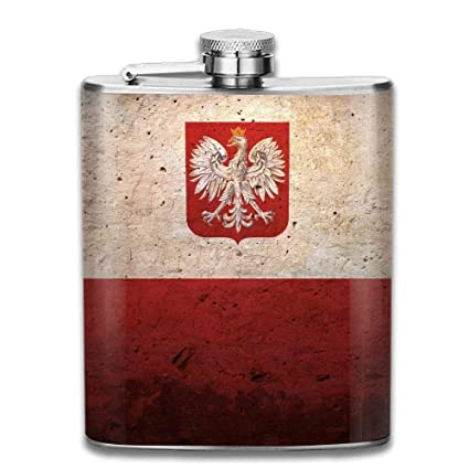 Free with Stainless Steel Funnel Kasstino Portable Stainless Steel Hip Flask 8oz Flagon Wine Bottle for Men Pocket Whiskey