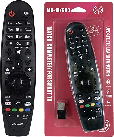 IHANDYTEC MR-18 LG - Mando a distancia de repuesto para televisores LG Smart (LED, LCD, plasma), color negro: Amazon.es: Electrónica