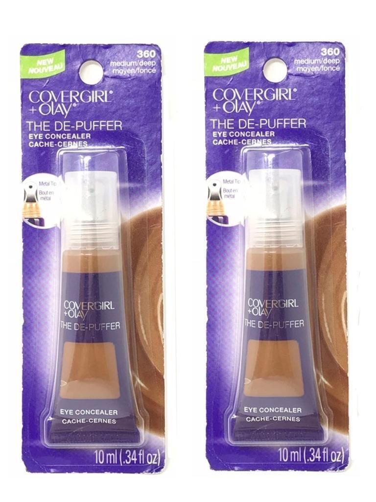 Set 2 CoverGirl + Olay Medium/Deep 360 The De-Puffer Eye Concealer Tube - 046200012306