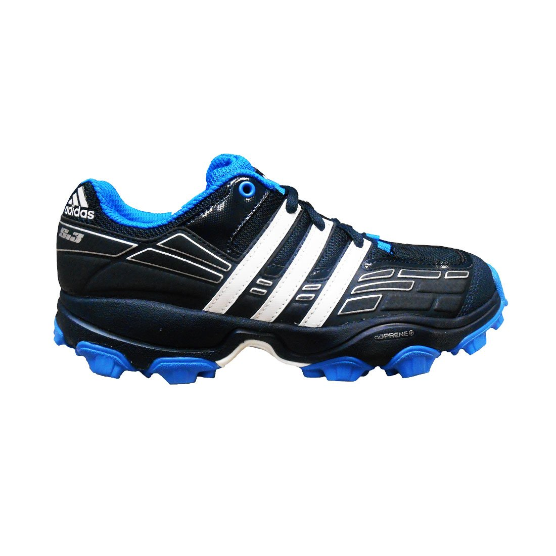 adidas Men's Adistar S.3 Field Hockey Shoes Tech Onix/White/Bright Blue)