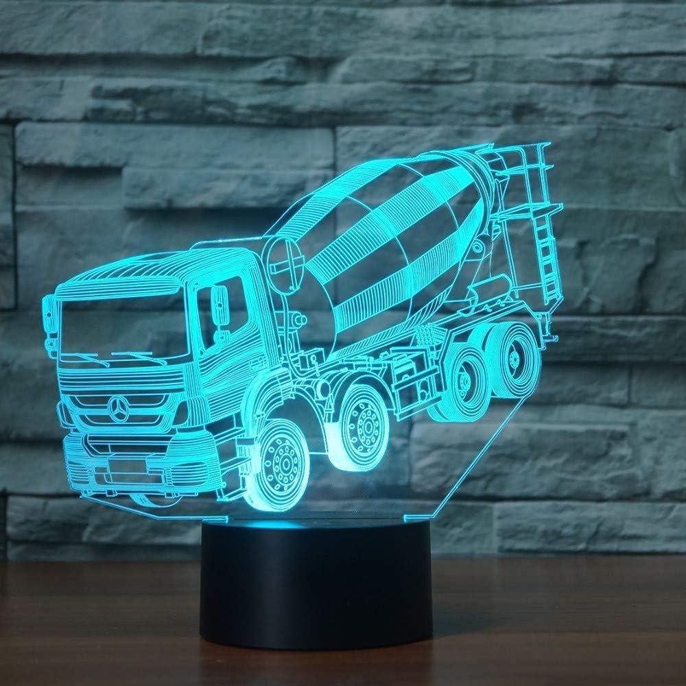 JNEC 3D Led Illusion Blender Car Model Night Light Led 7 Colors Flashing Table Lamp for Child Gifts Lights Room Decorations